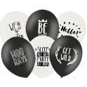 Ballonnen Zwart Wit Mix met fun tekst