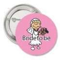 Button Bride to Be pink