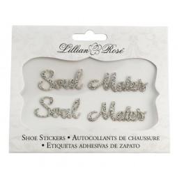'Soulmates' handige en extra voordelige schoensticker set zilver