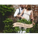 Decoratieve vintage look set Happy Couple en Wedding