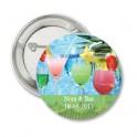 Button Tropical met eigen tekst