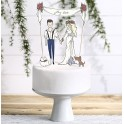 My Love bruidstaart topping 4-delig
