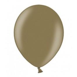 Ballonnen klein, 12 cm extra sterk voor helium of lucht per 10, 20, 50 of 100 stuks metallic cappucino