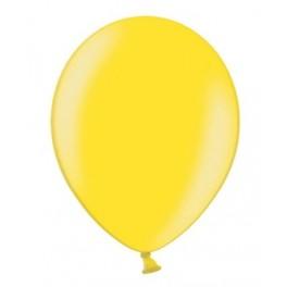 Ballonnen klein, 12 cm extra sterk voor helium of lucht per 10, 20, 50 of 100 stuks metallic geel