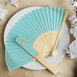 Bamboe waaier turquoise