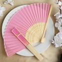 Bamboe waaier roze