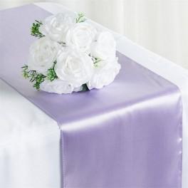 Satijnen tafelloper per stuk of per 4 stuks lila
