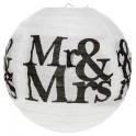 Twee bolvormige lampionnen Mr & Mrs black