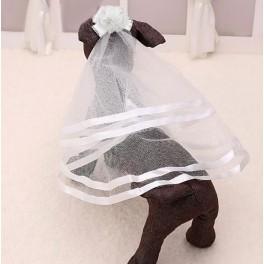 Romantische haarclip met sluier voor uw huisdier