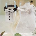 Glas decoratie set Bride and Groom