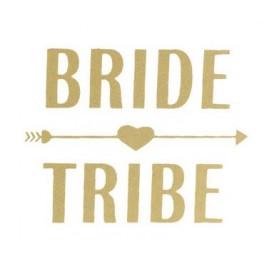Goudkleurige tijdelijke tatoeage Bride Tribe