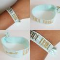 Elastische armband mint met gouden opdruk Bride Tribe
