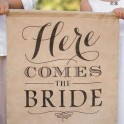 Jute banner Here Comes the Bride 40 x 50 cm