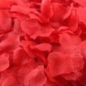 Aantrekkelijk geprijsd pak met 100 of 1000 rozenblaadjes rood