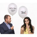 Set met twee super originele ballonnen Will You Marry Me en Yes