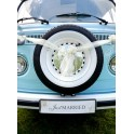 Kartonnen nummerbord Just Married Gold
