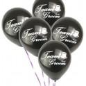 Ballon zwart met witte tekst Team Groom