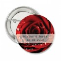 Button Red Rose