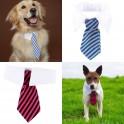 Hondenstropdas blauw en wit of rood en zwart gestreept