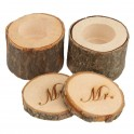 Houten ringendoosjes set Mr en Mrs met dekseltje