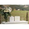 Enveloppendoos Just Married wit met goud