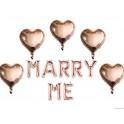 Ballonnen set Marry Me rosé goud
