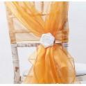 Organza stoelstrik oranje