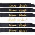 Bride to Be sjerp wit en/of Team Bride zwart