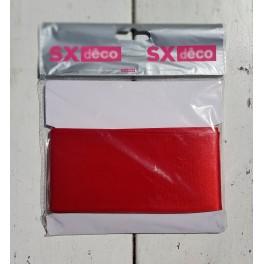 Aantrekkelijk geprijsd breed satijnlint 5 meter x 70 mm breed rood