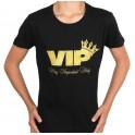 Dames en heren t-shirt VIP zwart met goud