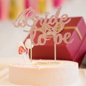 Bride to Be taart topping Diamond rose goud