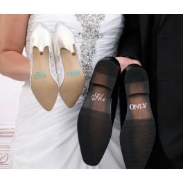 2-delige schoen sticker set His One en Her Only
