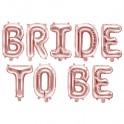 Ballonnen set Bride to Be rose goud