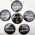 Button set Groom to Be en Team Groom