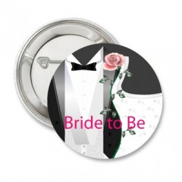 Badge Bride of Groom to Be Classic