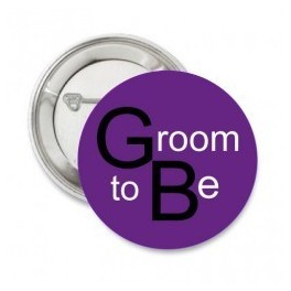 Button Groom to Be trendy purple