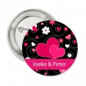 Button Hot Pink Hearts