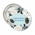 Button Blue Romance