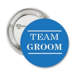 Button Team Groom Blue
