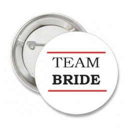 Button Team Bride White