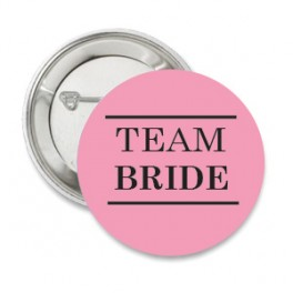 Button Team Bride Pink