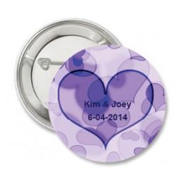 Button Purple Heart full of Love