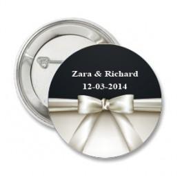 Button Elegant Black and White
