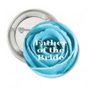 Button Turquoise Rose