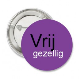 Button Vrij gezellig paars