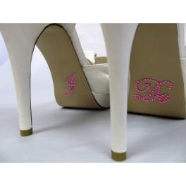 'I do' hot pink schoen sticker met strassteentjes