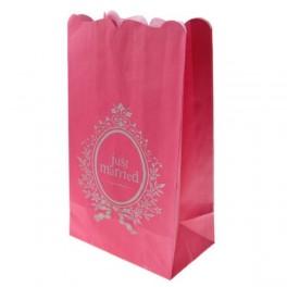 Candlebags Just Married per pak van 6 stuks in roze