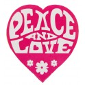 Pak met 50 stickers Peace and Love roze