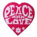 Pak met 50 kartonnen confetti stukjes Peace and Love roze