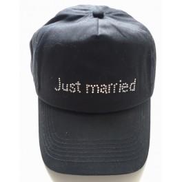 Witte of zwarte cap met diverse strass teksten